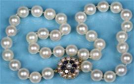 *CULTURED PEARL NECKLACE