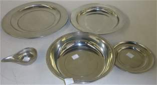 *5 PIECES OF STIEFF PEWTER