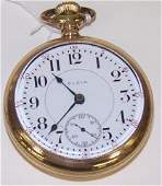GOLD PLATED ELGIN POCKET WATCH