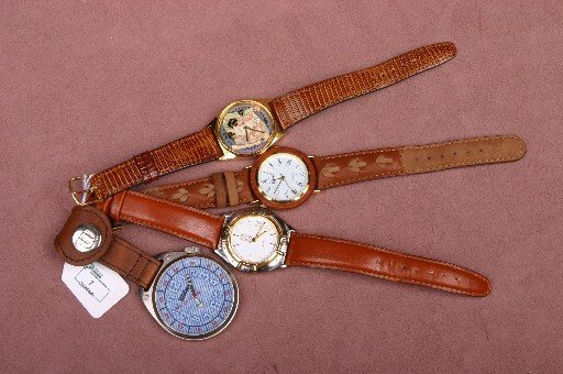 7: FOUR GENTLEMEN'S WRISTWATCHES| Revel, PS with date a