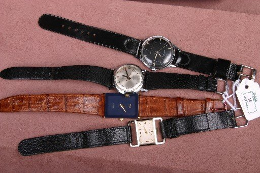 18: FOUR GENTLEMEN'S WRISTWATCHES| Caravel, with an Elg
