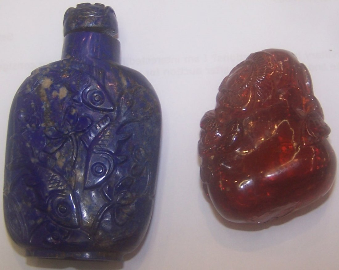 *4 CHINESE SNUFF BOTTLES - 5