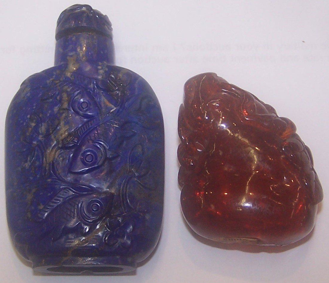 *4 CHINESE SNUFF BOTTLES - 6