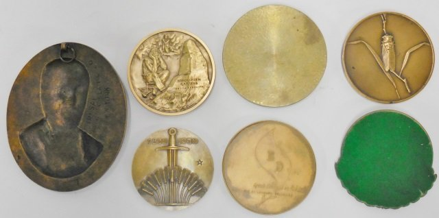 7 COMMEMORATIVE BRASS MEDALS - 2