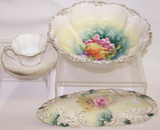 *4 PIECES OF RS PRUSSIA PORCELAIN