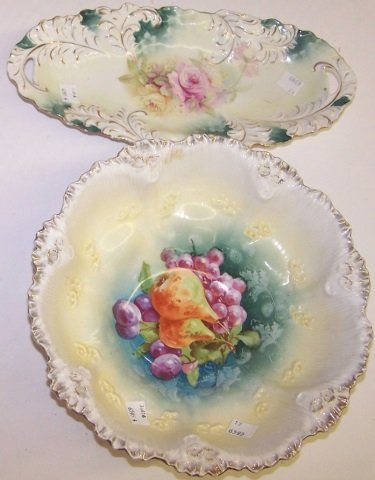 *4 PIECES OF RS PRUSSIA PORCELAIN - 2
