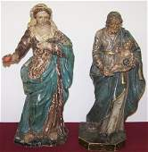 *2 EARLY WOOD SCULPTURES