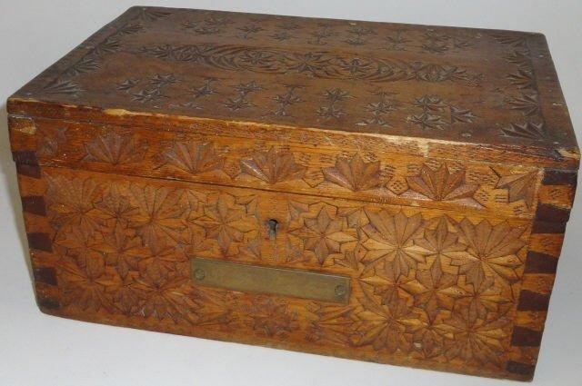 19TH C. AMERICAN DOCUMENT BOX