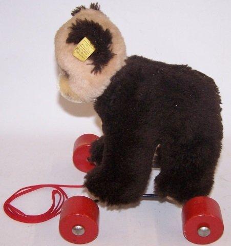 *STEIFF BEAR ON WHEELS - 2