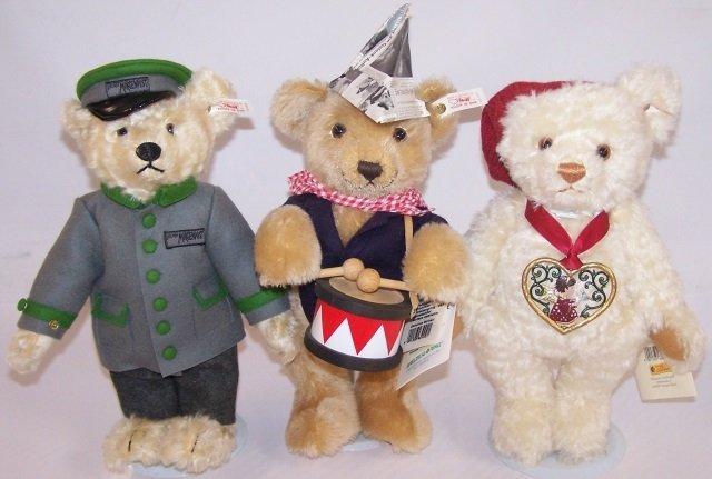 *3 STEIFF TEDDY BEARS