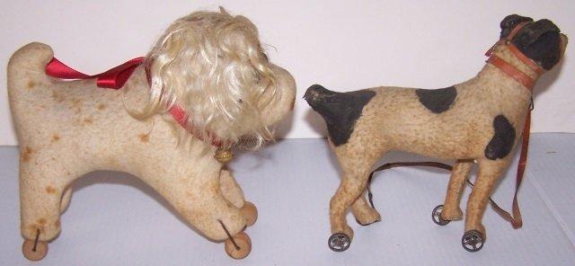 *2 DOG TOYS ON WHEELS - 4