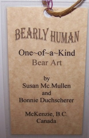 *2 BEARLY HUMAN DESIGNER BEARS - 7