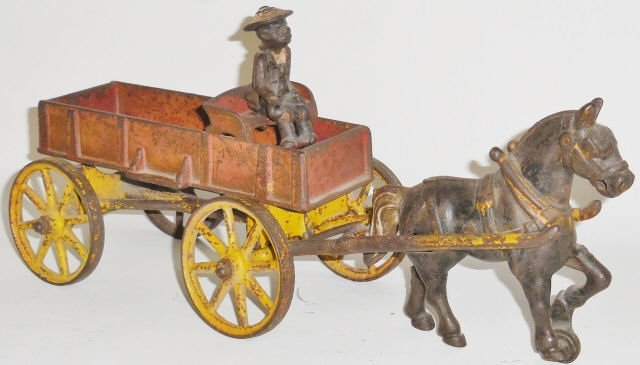 *KENTON CAST IRON SINGLE-HORSE-DRAWN WAGON