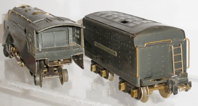 *LIONEL O GAUGE STEAM LOCOMOTIVE AND TENDER - 4