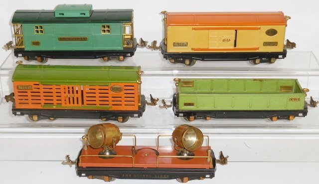 *5 PIECES LIONEL O GAUGE PRE-WAR ROLLING STOCK