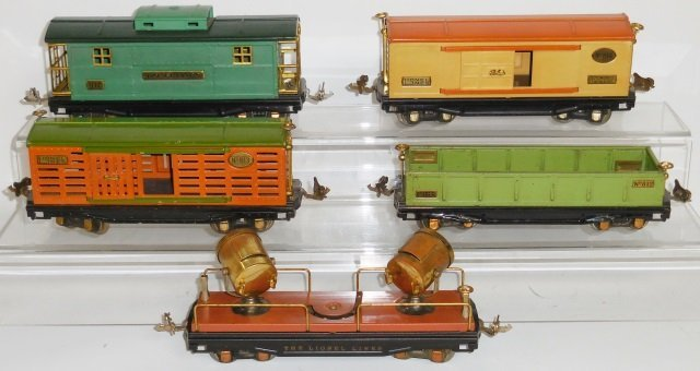 *5 PIECES LIONEL O GAUGE PRE-WAR ROLLING STOCK - 2