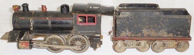 *LIONEL #6 LOCOMOTIVE AND TENDER
