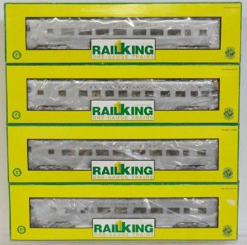 *4 MTH RAIL KING G SCALE PASSENGER CARS