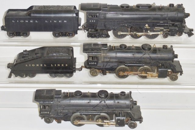 *3 LIONEL O GAUGE LOCOMOTIVES