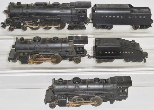 *3 LIONEL O GAUGE LOCOMOTIVES - 2