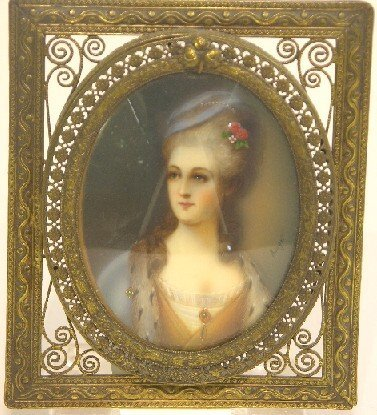 2002: ***CONTINENTAL OVAL MINIATURE PORTRAIT ON IVORY