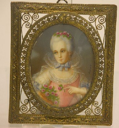 2003: ***CONTINENTAL OVAL MINIATURE PORTRAIT ON IVORY
