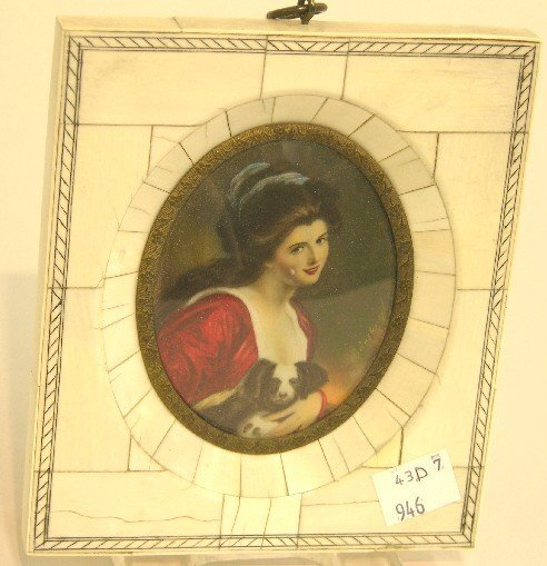 2012: ***CONTINENTAL OVAL MINIATURE PORTRAIT ON IVORY