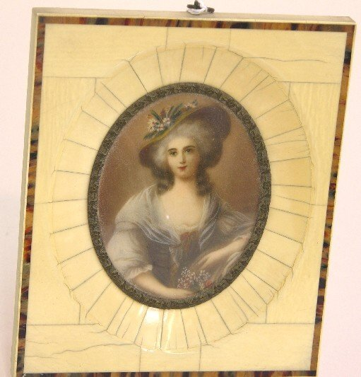 2015: ***CONTINENTAL OVAL MINIATURE PORTRAIT ON IVORY