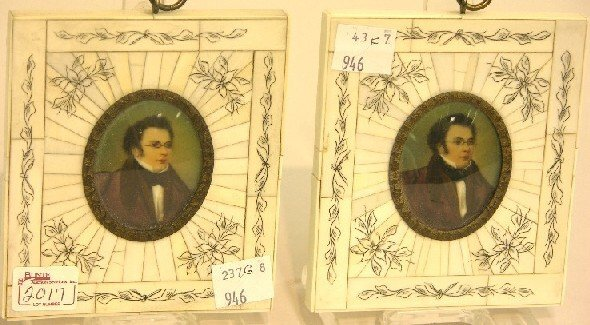 2017: ***PAIR OF CONTINENTAL OVAL MINIATURE PORTRAITS O
