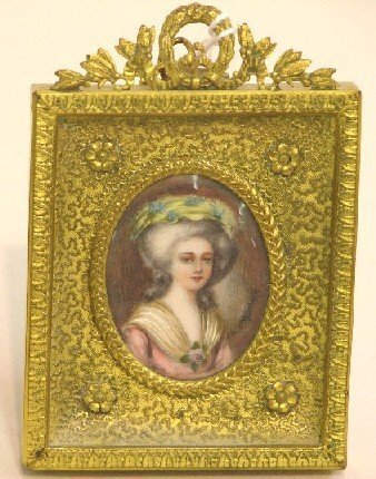 2018: ***CONTINENTAL OVAL MINIATURE PORTRAIT ON IVORY