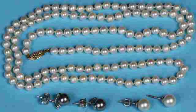 *GROUP OF PEARL JEWELRY