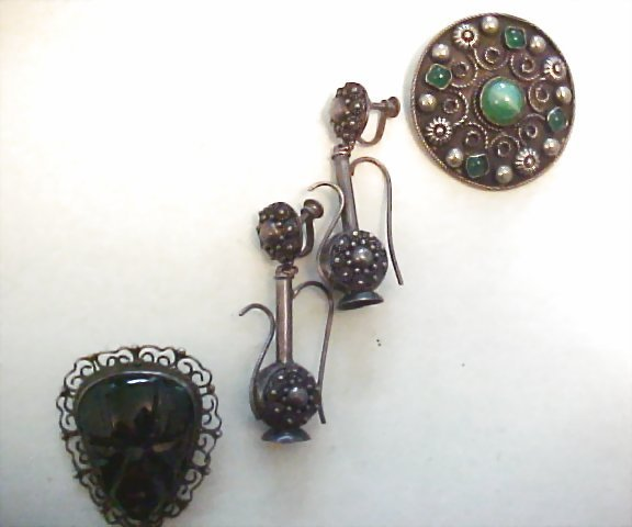 Small group of Mexican Sterling Jewelry Items