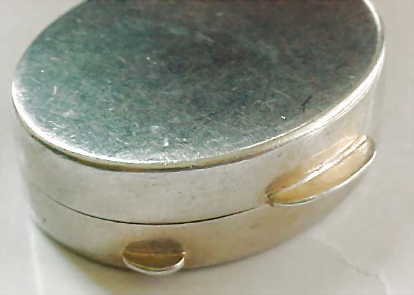 Sterling Silver Italy Pill Trinket Box