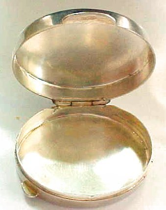 Sterling Silver Italy Pill Trinket Box - 3