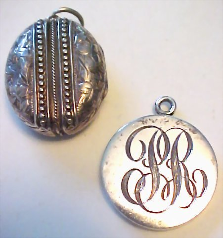 Victorian English Sterling Locket and Allan Adler