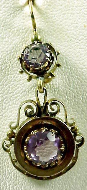 Vintage Amethyst 14k Earrings - 2