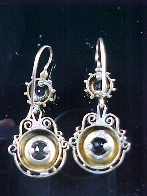Vintage Amethyst 14k Earrings - 3