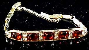 An Edwardian Garnet 10k Rose Gold Bracelet