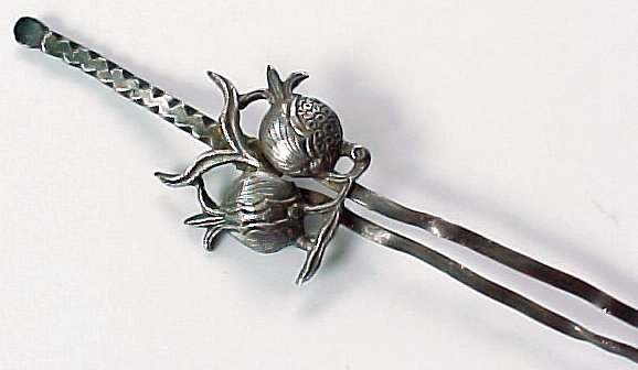 Antique Chinese Silver Hair Pin Ornament