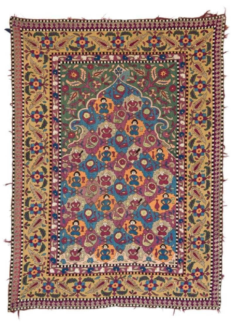 AZERBAIJAN EMBROIDERY 175 x 127 cm (5ft. 9in. x 4ft.