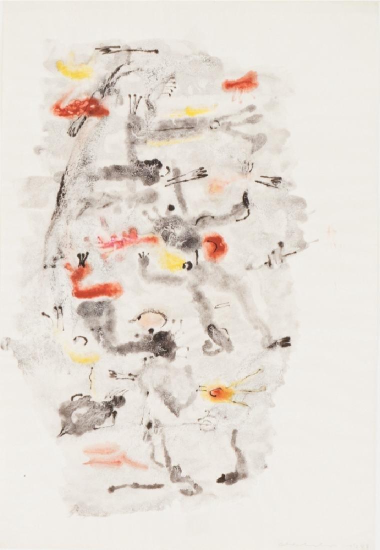 OSWALD OBERHUBER (1931 Meran) o.T., 1949 Aquarell, 34 x