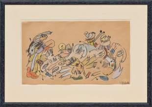 ANSELM GLÜCK (1950 LINZ) o. T., 1984 Zeichnung, Blei-