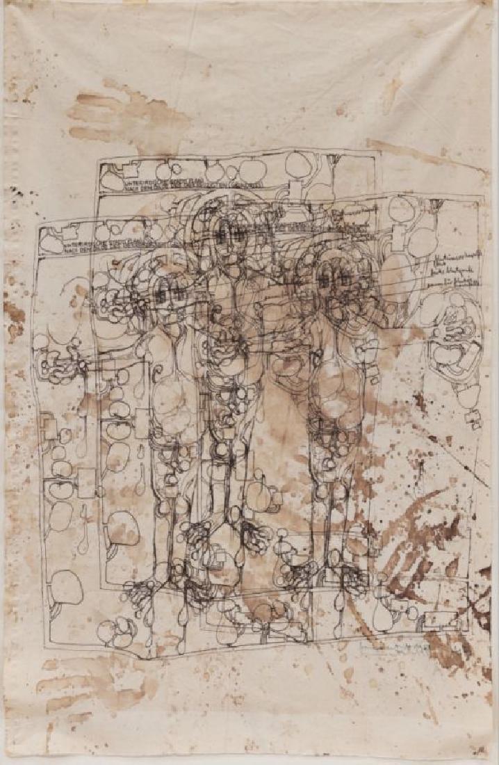 HERMANN NITSCH (1938 WIEN) CHRISTUS DER WIDDERGOTT,
