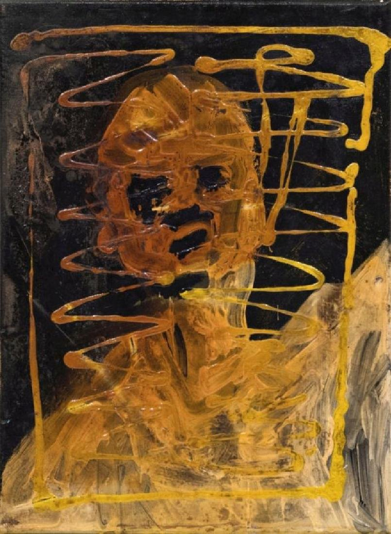 CHRISTIAN EISENBERGER (1978 SEMRIACH) KOPF, 2009 Akryl