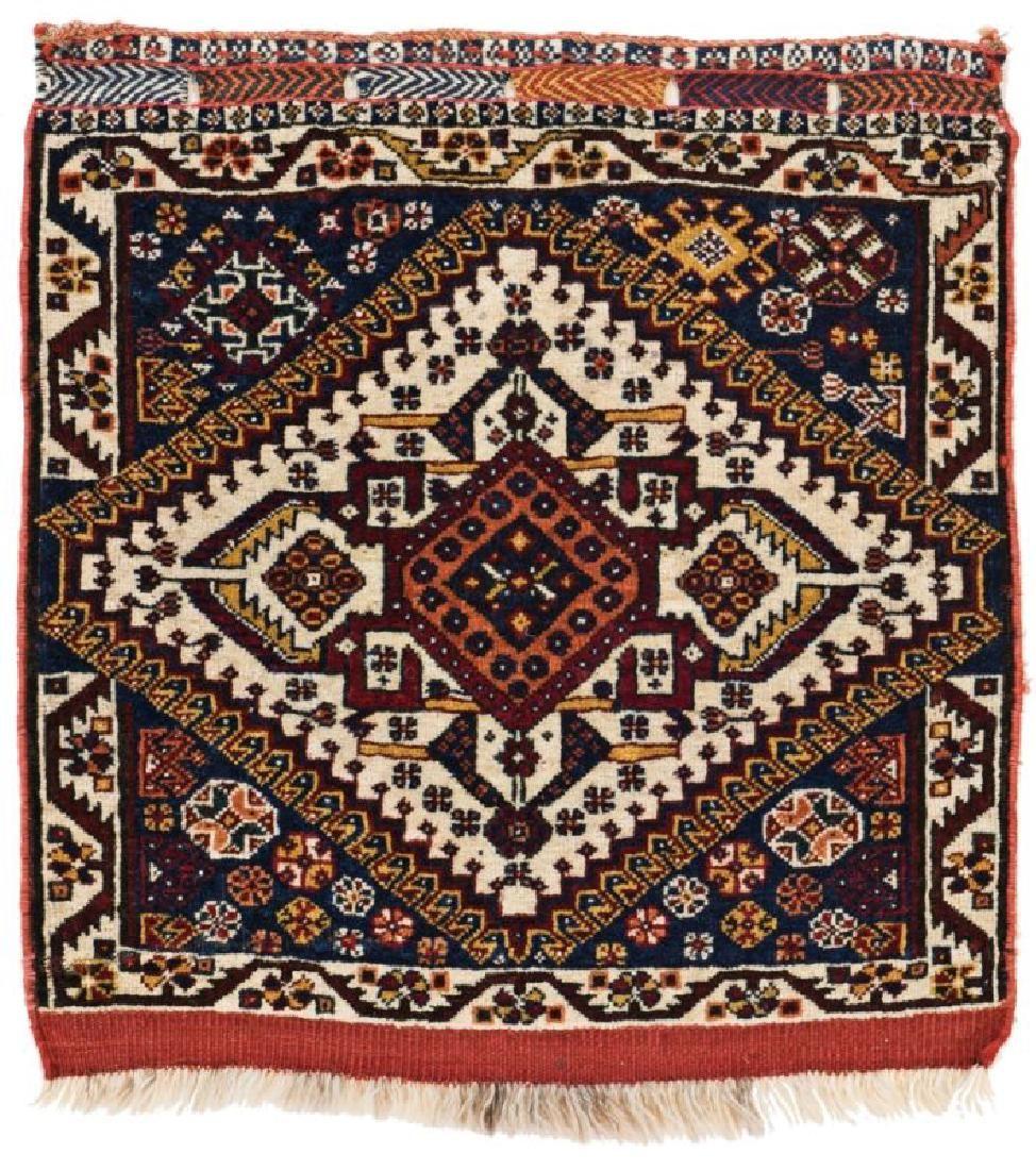 Qashqai Bagface 66 x 60 cm (2ft. 2in. X 2ft.) Persia,