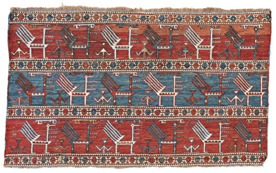 Akstafa Sumakh Panel 110 x 67 cm (3ft. 7in. X 2ft.