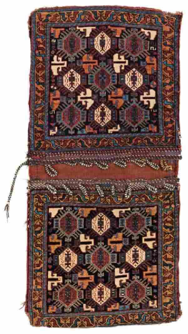 Afshar Khorjin 127 x 60 cm (4ft. 2in. X 2ft.) Persia,