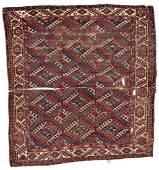 Yomut Main Carpet Fragment 180 x 162 cm (5ft. 11in. X