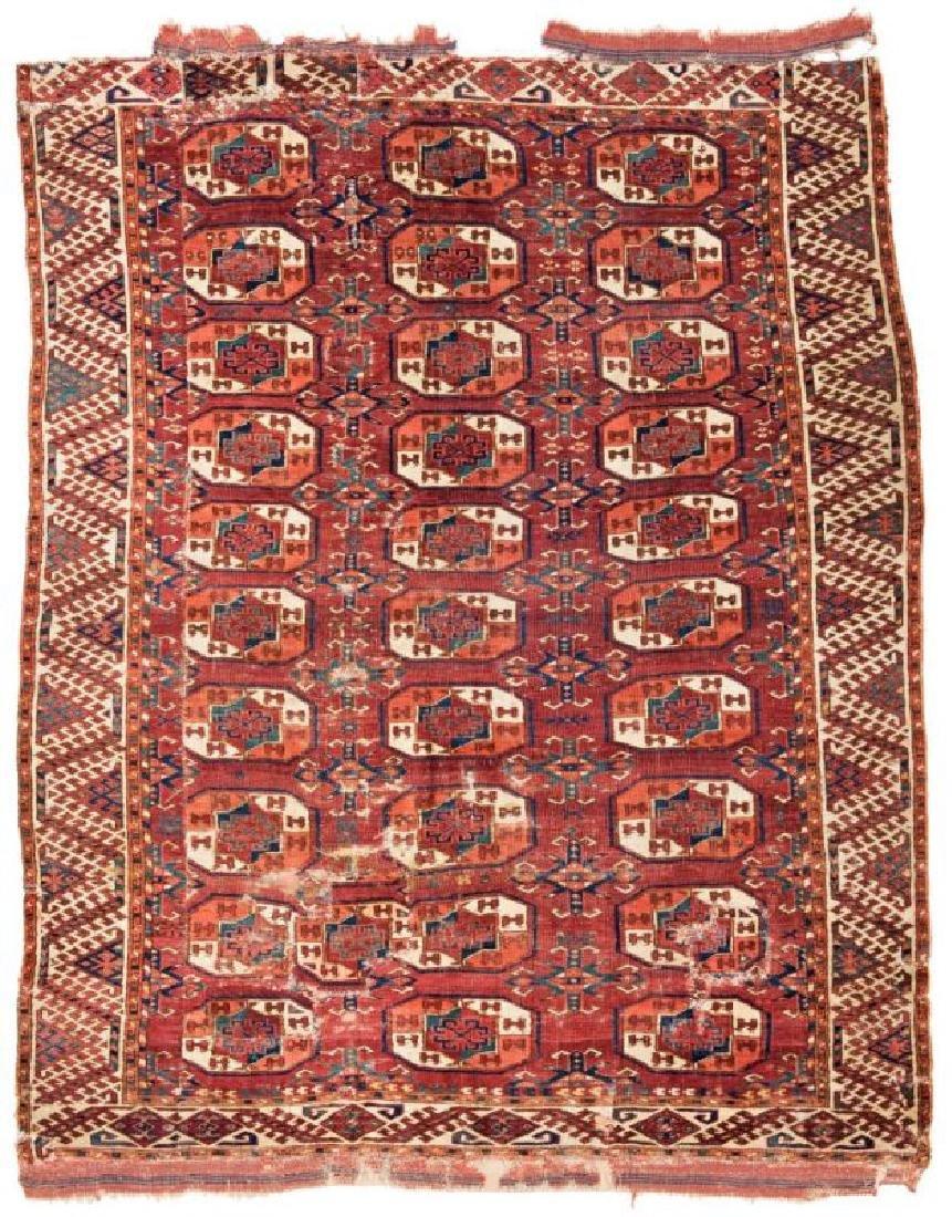 Kizil Ayak Main Carpet Fragment 215 x 157 cm (7ft. 1in.