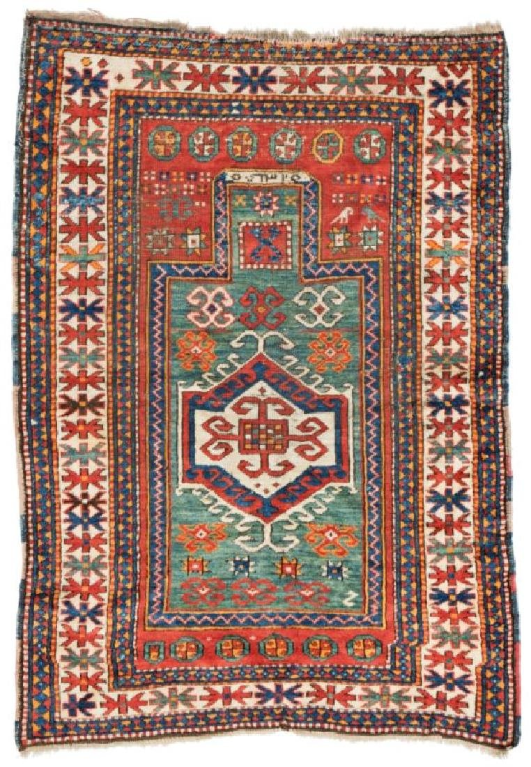 Kazak Prayer Rug 153 x 106 cm (5ft. X 3ft. 6in.)